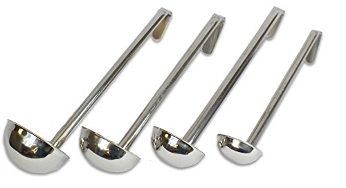 CucinaPrime Set of 4 Stainless Steel Soup Ladle