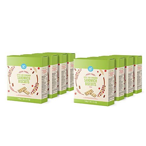 Amazon-Marke: Happy Belly - Sandwich-Kekse mit Apfel und Zimt, 8 x 148 g