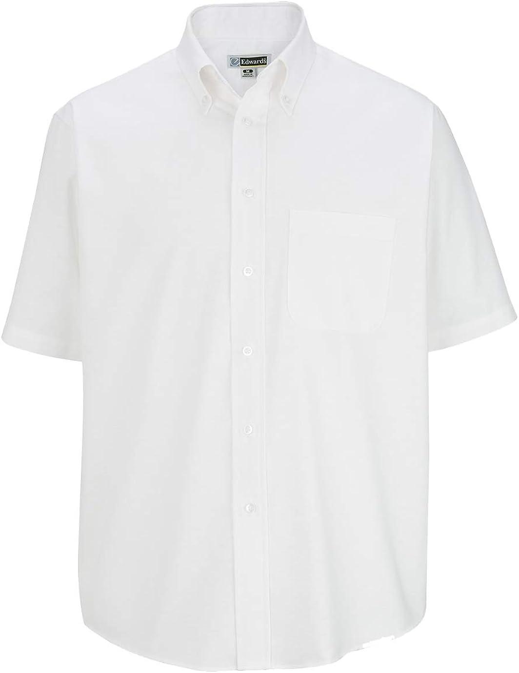 Edwards Men's Short Sleeve Oxford Shirt 5XL Tall White