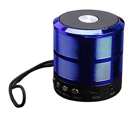 WS-887 Mini Bluetooth Speaker with FM Radio, Memory Card Slot, USB Pen Drive Slot, AUX Input Mode,WS-887 Wireless Portable Bluetooth Speaker All Mobile Supported Laptop tv Super Sound (Blue)