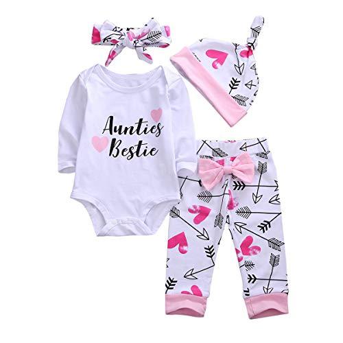 Newborn Infant Baby Girl Clothes Set Auntie