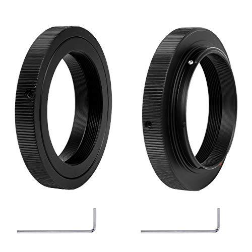2 adaptadores de montura de lente T2-Ai T2 compatibles con Nikon D50 D60 D300 D3000 D3100 D3200 D3300 D5100 D5200 D5000 D90 D80 D70 D3 D4