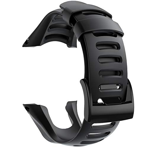 NotoCity Compatibile con Cinturino SUUNTO Ambit 3 Braccialetto Sportivo in Silicone Multicolore e Accessori per Cinturini (Fibbia Nero, Nero)