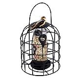 Mankoo Alimentador de Tubo enjaulado, alimentador de pájaros Colgante para Exteriores, alimentador de pájaros Salvajes a Prueba de Ardillas, Herramienta automática de alimentación de pájaros