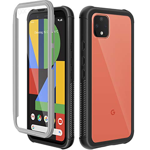 meritcase Designed for Google Pixel 4 XL Case, Clear Full Body Built-in Screen Protector Bumper Case, Rugged Heavy Duty Dropproof Phone Cover for Google Pixel 4 XL 6.3inch-2019