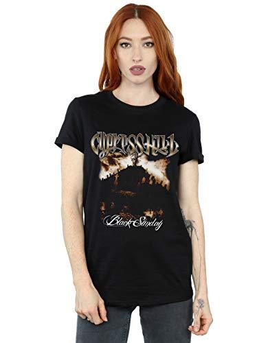 Absolute Cult Cypress Hill Femme Black Sunday Petit Ami Fit T-Shirt Noir Medium