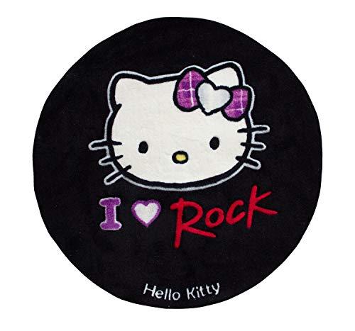 Böing Carpet Hello Kitty Teppich ' I Love Rock ' 80 cm rund