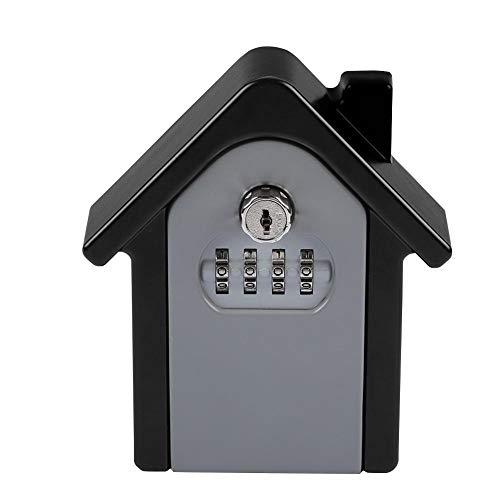 ASHATA sleutelkluis, sleutelsafe met 4-cijferige cijfercode sleutelkluis wandmontage, weerbestendig, sleutelbox, veiligheidscode, opbergdoos voor kinderen, cadeau