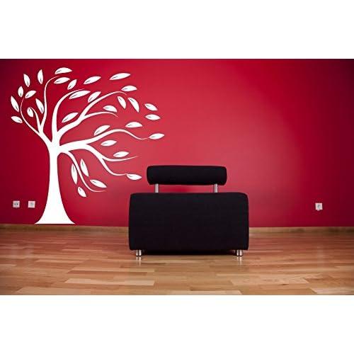 Asmi Collections Wall Stickers Beautiful Big White Tree (5 Feet * 5 Feet)