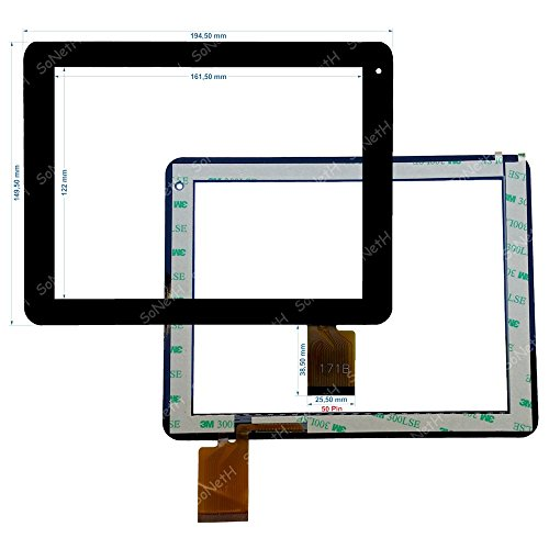 Soneth Vetro Touch screen 8,0' Nordmende ND-R800W FPC171B 171B Nero