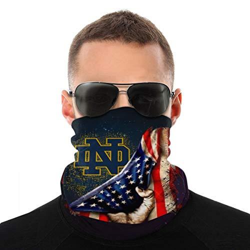 Notre Dame Fighting Irish Windproof Face Mask Sports Neck Gaiter Multifunctional Scarf for Men Women