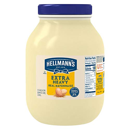 Hellmann's Extra Heavy Mayonnaise Jar Made with 100% Cage Free Eggs, Gluten Free, 1 gallon