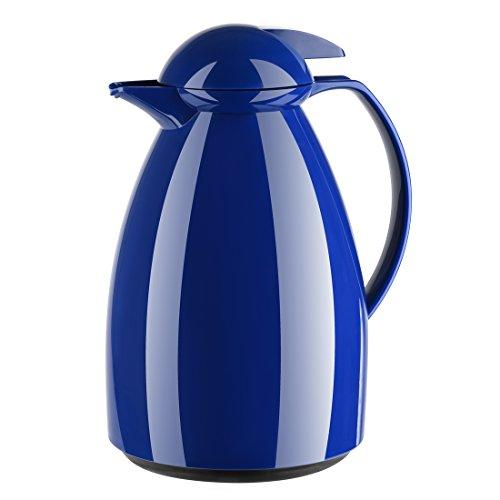 Emsa 660100400 Isolierkanne, Für Kaffee oder Tee, 1 Liter, Quick Tip Verschluss, Blau, Tango