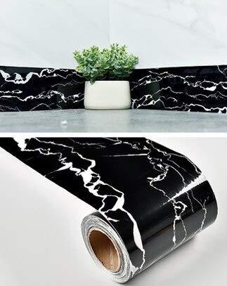 yuandp Woonkamer Decor Rokken PVC Zelfklevende Vensterbank Film Waterdichte Renovatie Stickers Marmeren Taille Lijn Behang Randen 10cm x 5m