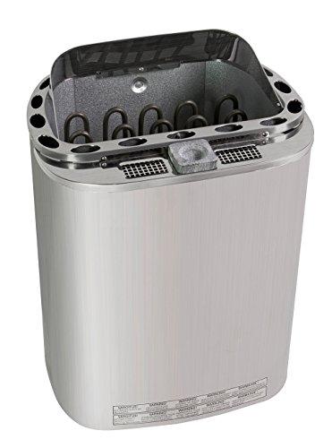 Well Solutions Premium Dampf Bi-o Kombi Sauna Ofen 9 KW Scandia Trendline eine Schale