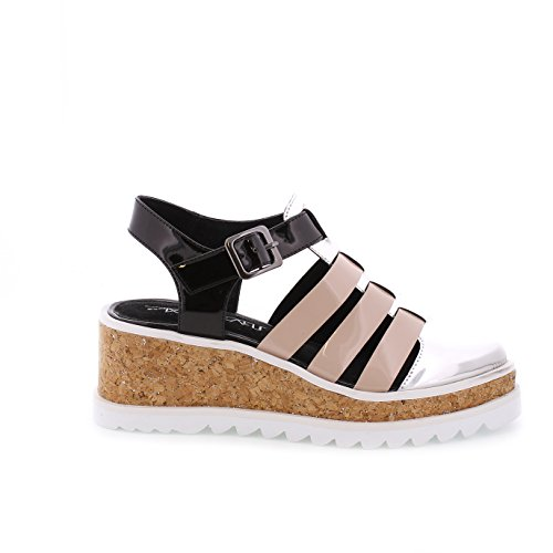 Sixtyseven Damen 77923 Kleid-Schuhe, Sintec Plata/Maquillaje/Plata/Blanco, 38 EU