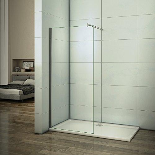 50x200cm Walk in Duschwand Duschtrennwand 10mm Easy-clean Nano Glas Duschabtrennung F123