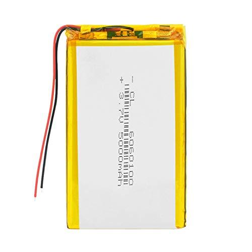THENAGD 3.7v 5000mah PolíMero De Litio Bluetooth PortáTil, Batería Recargable Batería Litio-Ion Lipo BateríAs para Mp3 Tachograph 60601005000mAh1pc