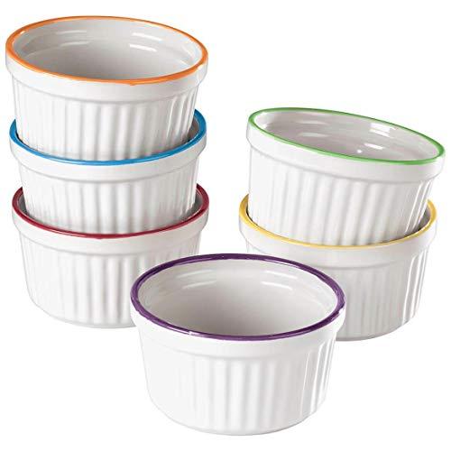 Colorful Ramekins, Set of 6-Bakeware sets-kitchen accessories-Baking pan-Cake pan-Baking pans-Baking sheets-Cookie sheets for baking-Baking dish-baking pan set-Sheet pans for cooking