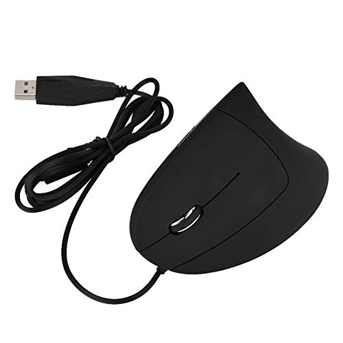 Ergonomic Mouse, Vertical Wireless Mouse -Rechargeable 2.4GHz Optical Vertical Mice 3 Adjustable DPI 800/1200/1600 Levels 6 Buttons, for Laptop, PC, Computer, Desktop, Notebook Black