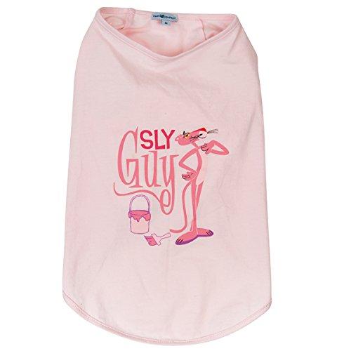 Roze Panter Mouwloos Huisdier T-Shirt, Large, roze