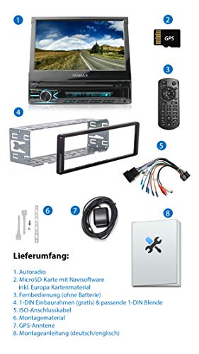 XOMAX XM-VN745 Radio de Coche con Mirrorlink I Navegador GPS I ...