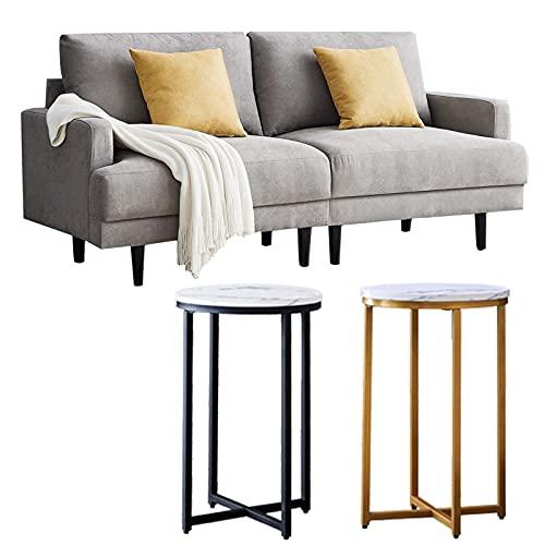 DADEA Sofa 2 Sitzer, Hoher Komfort Relaxsessel mit Armlehne, Der Massivholzrahmen, Verstellbaren Kopfstützen, Moderner Leinenstoff 2-Sitzer-Sofa 180cm(Kostenloser 1pcs Sofa-Beistelltisch)