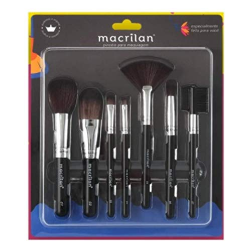 Kit Pincel Maquiagem 7 Pincéis Macrilan Kp9-2a