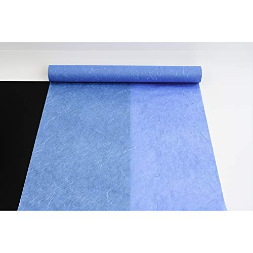 HanJi Koreanisches Maulbeer-Papier, natürliche Fasertextur, Geschenkverpackung, dekorative Tapete, 54 cm x 20 m, Blau