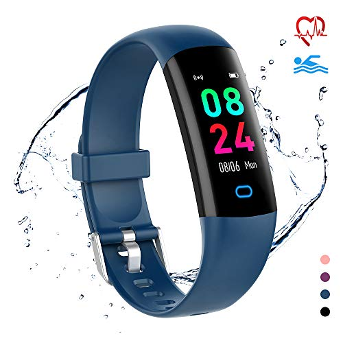 moreFit Fitness Tracker Health Watch,Kids Activity Tracker Calorie Watch with Sleep Monitor,  Waterproof Swimming Tracker Watch with Heart Rate Blood Pressure Monitor, Pedometer Watchfor Men Women