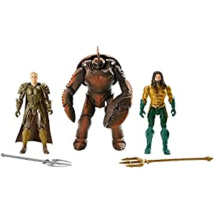 JUSTICE LEAGUE- Pack de 3 Figuras Aquaman, Multicolor, 15 cm (Mattel FWX38) 3