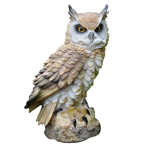 Eule Garten Statue, Polyresin Tier Outdoor/Indoor Eule Figuren Skulptur Premium Bird Repellent gefälschte Eule Ornamente Craft Dekorationen