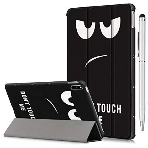 Ash-case Étui pour Samsung Galaxy Tab S6 Lite 10.4 2020 Tablet, Smart Cover Housse Etui Cuir Coque avec Support pour Galaxy Tab S6 Lite 10.4 2020 inches,Soot Eye+1x Stylo Tactile argenté