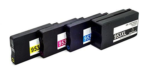 Hyggetech 4 cartuchos de impresora XL de repuesto para HP 953XL 953 compatibles con HP Officejet Pro 8210 8725 8728 8730 8740 8710 8720 7740 8715
