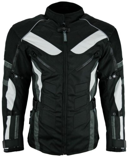 Heyberry Touren Motorrad Jacke Motorradjacke Textil schwarz grau Gr.L - 4