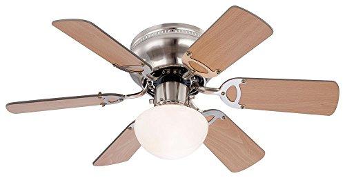 7 Watt Deckenventilator mit LED Beleuchtung und Zugschalter Ventilator Lampe