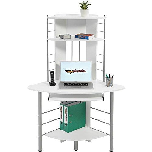 Computertisch Ecktisch, Weiß Piranha PC8s