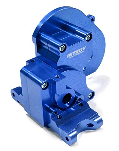 Integy RC Model Hop-ups T7983BLUE Alloy Gearbox Housing for Traxxas 1/10 Stampede 2WD, Rustler 2WD & Bandit XL5