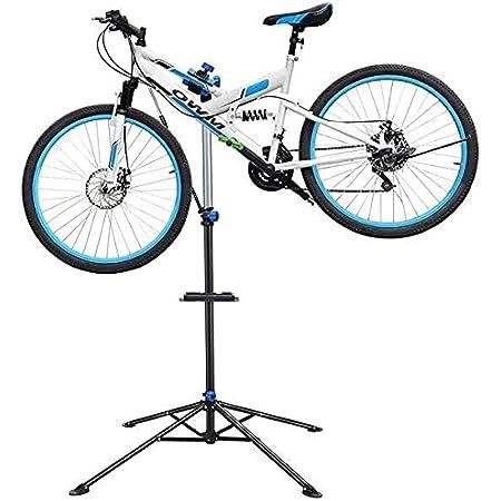 Yaheetech Pied atelier Vélo VTT Support de Réparation Vélo Poste de Montage pour Bicyclette avec Pince de Serrage Léger et Portable Pivotant à 360 Hauteur Réglable 108 - 190 cm