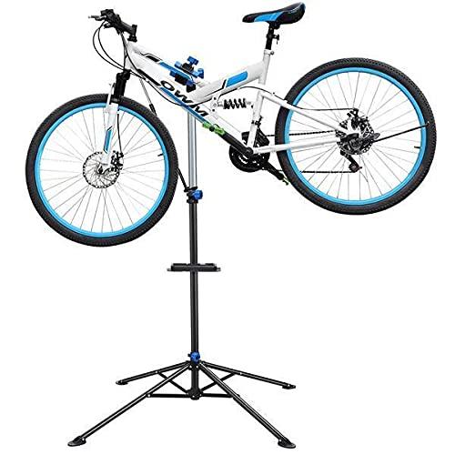 Yaheetech Soporte de Reparación de Bicicleta Caballete de Bicicleta de Montaña Plegable Altura Ajustable