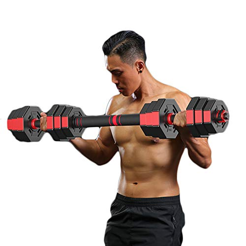Kurzhantel-Gewichtsset, Kurzhantel-Set, Handgewichte, Verstellbares Kurzhantel-Gewichtsset Langhantel-Set Fitness-Kurzhantel-Set mit Pleuel für MäNner und Frauen,40kg