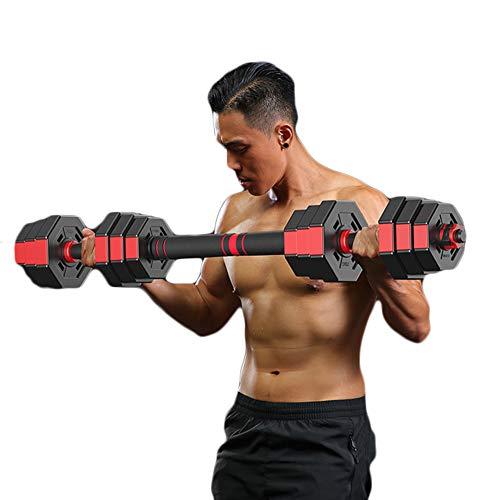 Kurzhantel-Gewichtsset, Kurzhantel-Set, Handgewichte, Verstellbares Kurzhantel-Gewichtsset Langhantel-Set Fitness-Kurzhantel-Set mit Pleuel für MäNner und Frauen,30kg