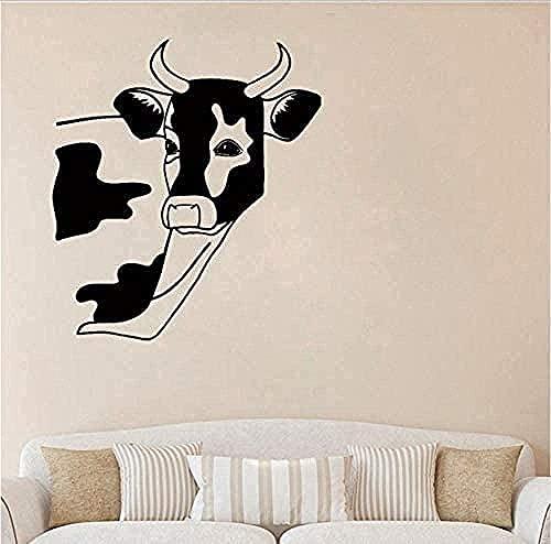 Etiqueta de la pared extraíble diseño de Pvc etiqueta de la pared Animal vaca pegatina cocina guardería granja animal país 56X64Cm