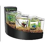 Betta Falls Aquarium Kit Aquatic Black Color Furniture Style Modern and - Skroutz Deals