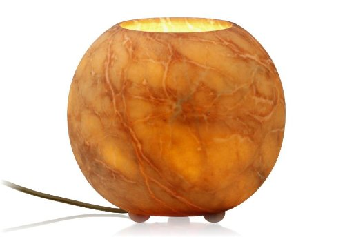 Alabasterlampe Bowl Terra - Original ALATURA Alabaster Regalleuchte Alabasterleuchte