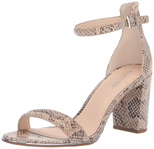 Kenneth Cole REACTION Women's Lolita Heeled Sandal, Taupe Multi, 9
