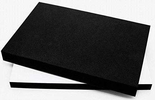 EPDM Zellkautschuk Dichtungsmatte einseitig, selbstklebend Moosgummi - Größe A4 200x300mm - Stärke in 1/2/10/15/20/30 mm (200x300x1mm) Premium-Qualität mit Geld-zurück-Garantie