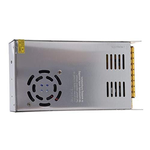 Futur Print® - Fuente de alimentación (transformador) estabilizada, profesional, para uso continuo con interruptor (110 – 220 V CA, 50 – 60 Hz; salida: 24 V, 10 A), para instalaciones LED, cám