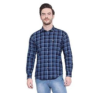Monte Carlo Men's Checked Regular Fit Cotton Blend Shirt 14 416oNm7UAZL. SS300