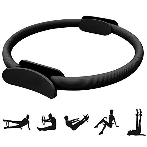 Formazione Pilates Circle Core Perdita Grasso Anello Yoga Resistenza Ring Doppio Manico Pilates Ring Adatto per l Allenamento Brucia Grassi Braccia Cosce Costruire Una Buona Figura,Pratico(Nero)